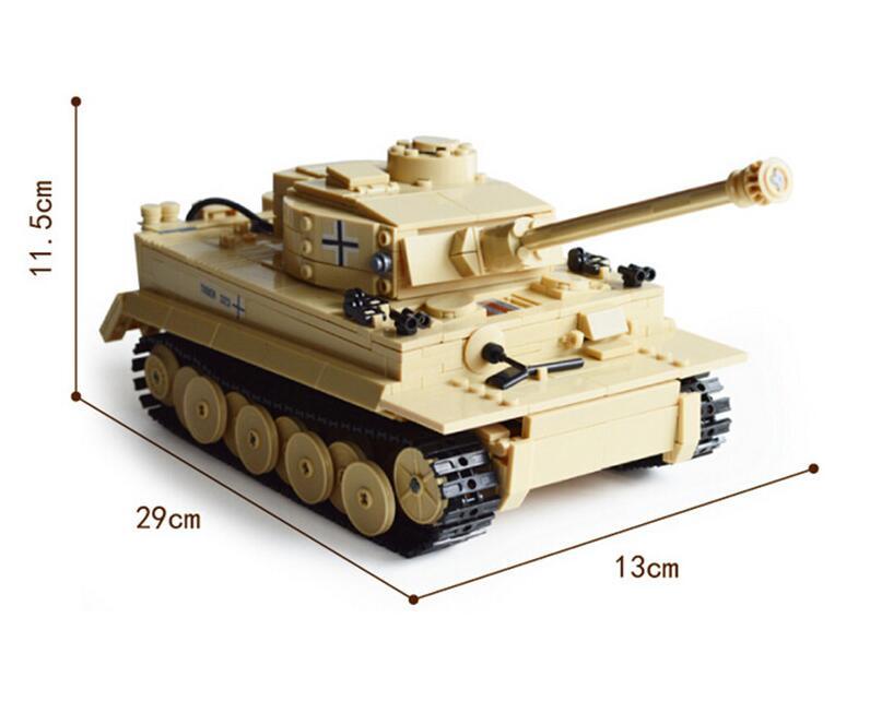 KAZI 2017 NY 82011 995st Century militær tysk kong tiger tank kanon - Konstruktionslegetøj