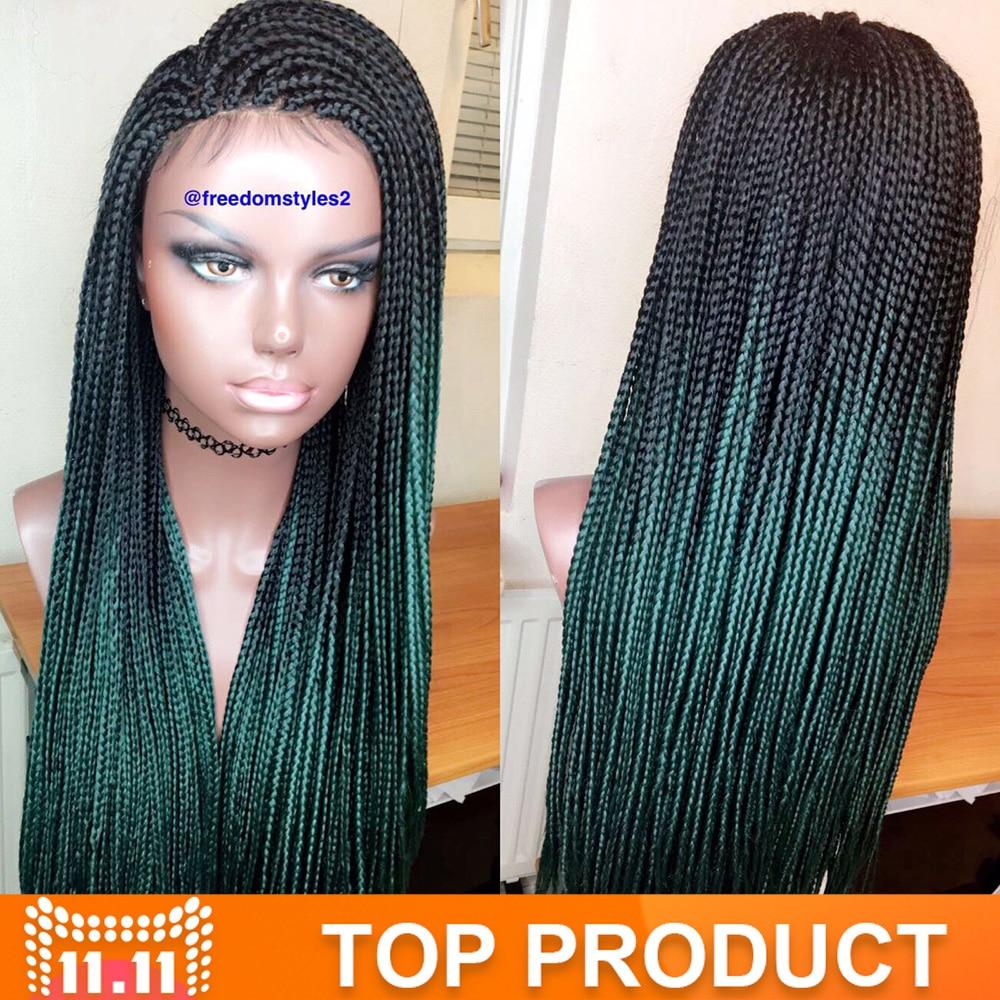 Aliexpress Com Buy Green Ombre Kanekalon Braiding Hair
