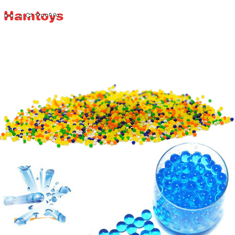 2000pcs 9-11mm soft crystal water paintball bullet orbeez gun toy for nerf...