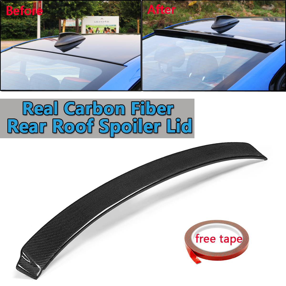 New Real Carbon Fiber Roof Spoiler Lid Wings For BMW 3 Series F30 2013-2017 Rear Wing Spoiler Rear Trunk Roof Wing Glossy Black for 12 16 bmw 3 series f30 4dr trunk spoiler oem painted match a83 glacier silver