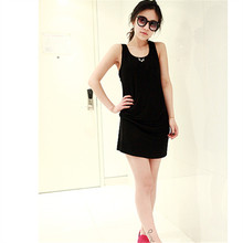 Summer Women Casual Sundress High Quality Ladies Fashion Outwear Black Pocket Clothing Dress
