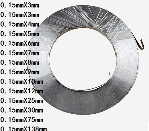 1kg 0.15mm * 3mm Pure Nickel Plate Strap Strip Sheets 99.96% pure nickel for Battery electrode electrode Spot Welding Machine|Tool Parts| |  - title=