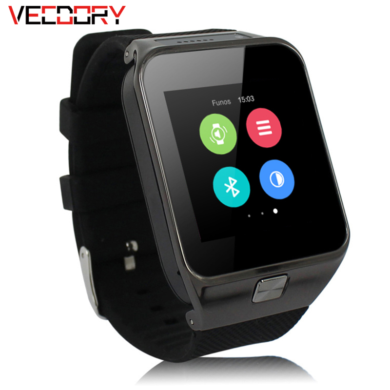 Vecdory GW06 Smart Watch With Heart Rate Monitor Bluetooth Smart Watch Android 4.4 USB Charging Call Fitness MIDI/MP3/AAC f35 smart bluetooth 3 0 mp3 watch with