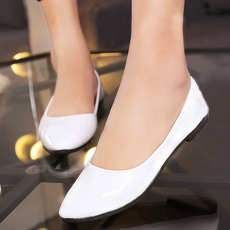 Candy colors Moccasins Women's Soft Slip on Flats Female Shoes Loafers Casual Shoes Women PU Leather Pointed Toe Flat Shoes women ladies flats vintage pu leather loafers pointed toe silver metal design