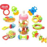 Yuanlebao baby bell toys handbell ten piece set for baby molar bell toys newborn Children