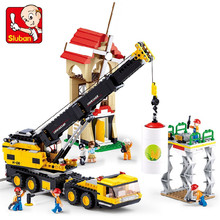 767Pcs City Heavy Engineering Crane Truck Figures Building Blocks Bricks Educational Toys For Children city creators radio remote control heavy haul train building block worker figures engineering bricks 60098 rc assemblage toys