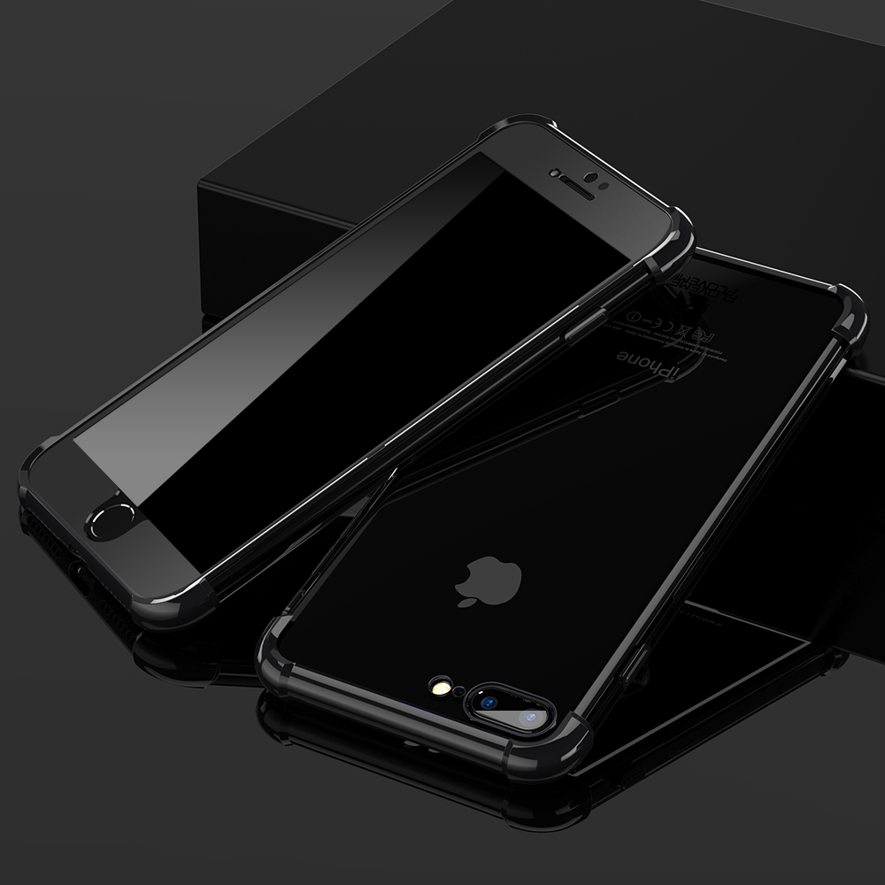 FLOVEME Luxury 360 Protective Case For iPhone 6 6S iPhone 7 Plus Capinhas Transparent Silicon Anti-knock For iPhone 6 6S 7 Case