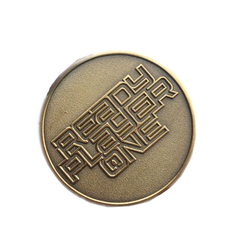 New Fahion movie Ready Player One Letter key chain Pendant Extra Life Coin Necklace Charm Jewelry Accessories
