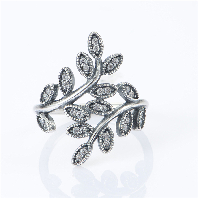 100% 925 Silver Leaves Rings Engagement Ring Sterling-Silver-Jewelry Wedding Rings For Women Jewelry Wholesale