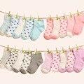 5 Pares/lote Doces Cor Meias Meias de Algodão Do Bebê das meninas dos meninos Da Criança do bebê Infantil Crianças de ninos calcetines meia infantil meias