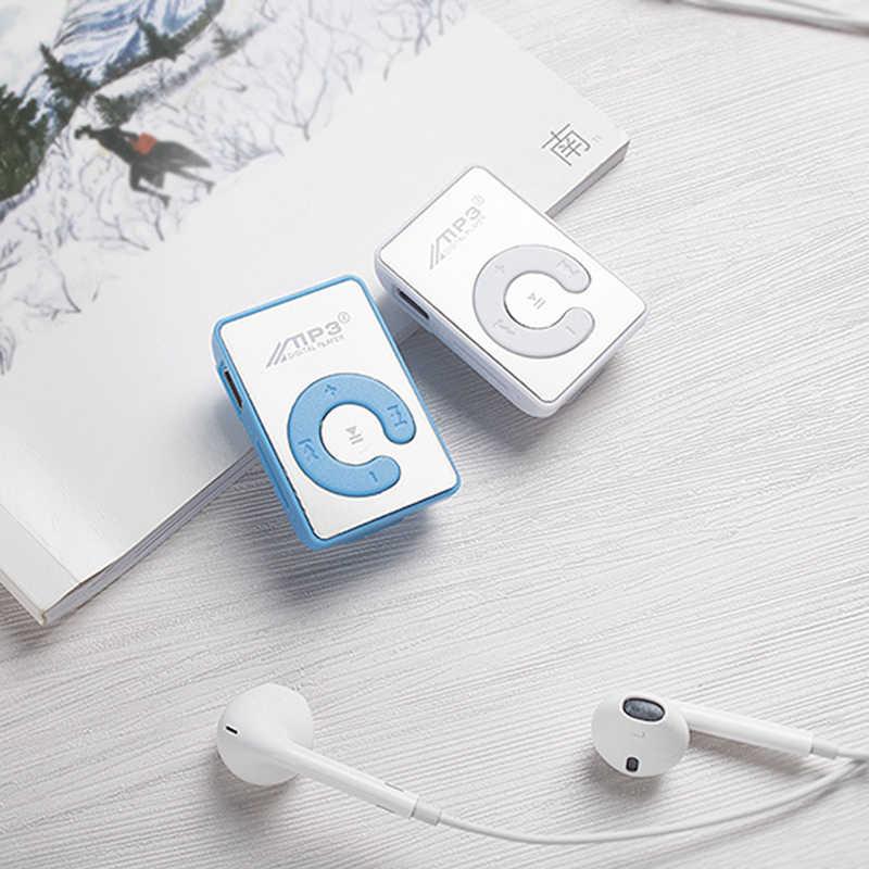 MP3 плеер мини MP3 плеер с поддержкой 8 Гб TF карты с USB кабелем Студенческая подарочная карта MP3 мини портативный Mp3 высокое качество элегантный