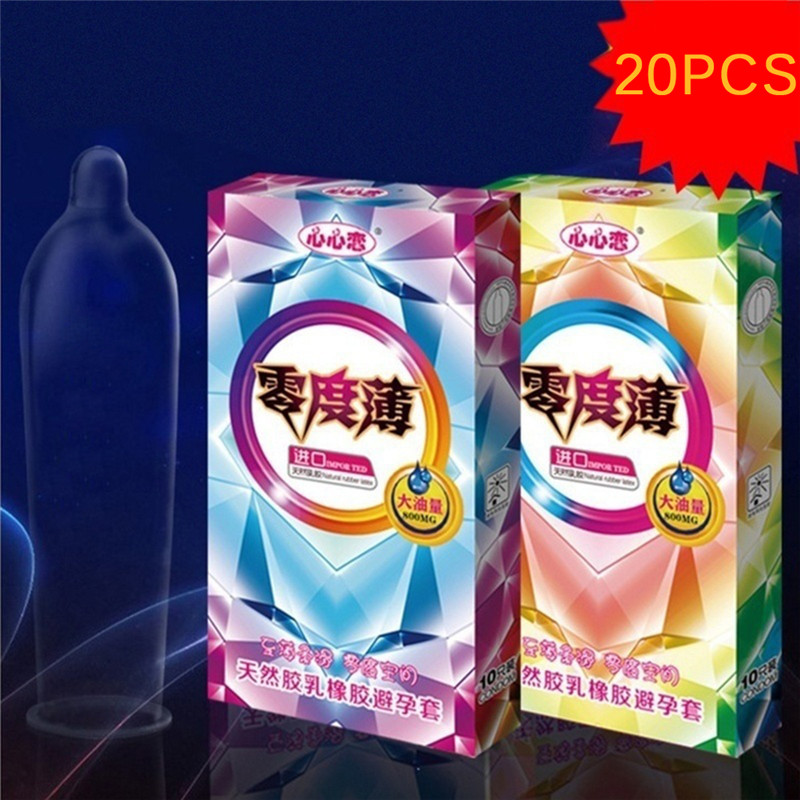 20PCS/3PCS Natural Latex Smooth Lubricated Condom Ultra Thin Contraception Condoms for Men Sex Products Sex Toys