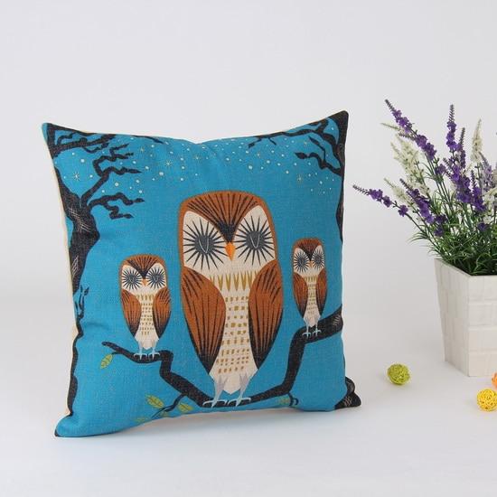 Decorative Pillow Distributors : Aliexpress.com : Buy 45*45 cm Home Decorative Vintage Retro Owl Linen Throw Pillow Case for ...