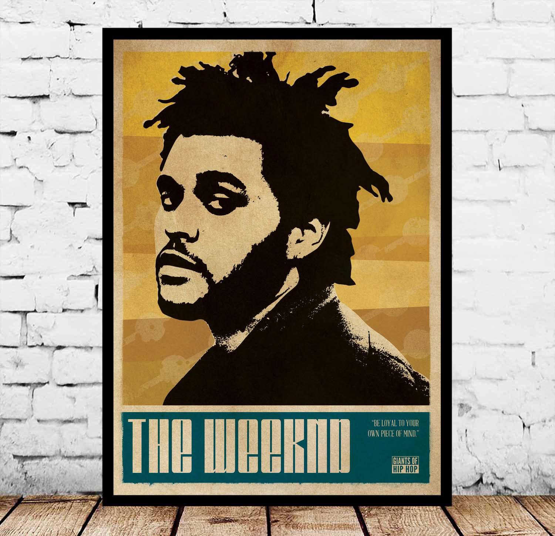 Hot The Weeknd House of Balloons Hot New Silk Poster Art Deco Rap Music Album