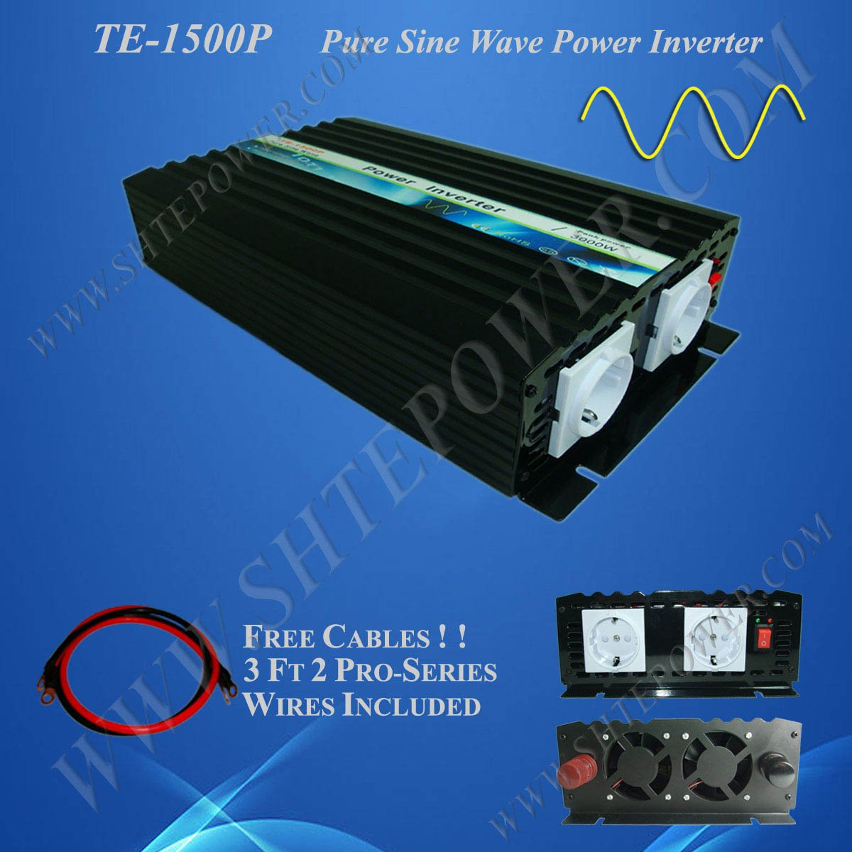 цена на 1500w Pure Sine Wave Inverter, Solar Power Invertor, DC 48v to AC 230v Power Inverter