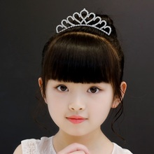 2019 New Fashion White Crown Zircon Princess Hairbands Hair Jewelry Accessories For Kids Girls Birthday Party Gifts Wholesale