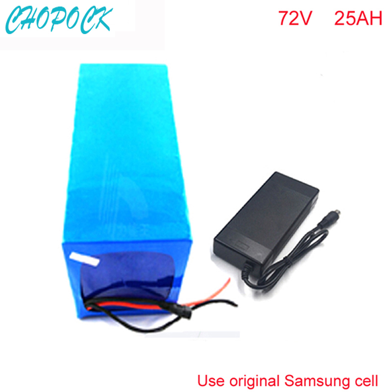 72V 25Ah Electric Balance Bike Battery 72V 3000w DIY Lithium Battery Pack with Charger BMS PVC Pack For Samsung cell 72v 3000w lithium ion battery pack for scooter e motorcycle electric bike