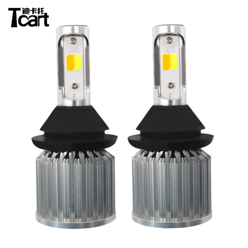 Tcart 2pcs New COB 30W Lamps Car White DRL Daytime Running Lights Yellow Turn Signals PY21W 1156 For Chevrolet Captiva 2009-2015