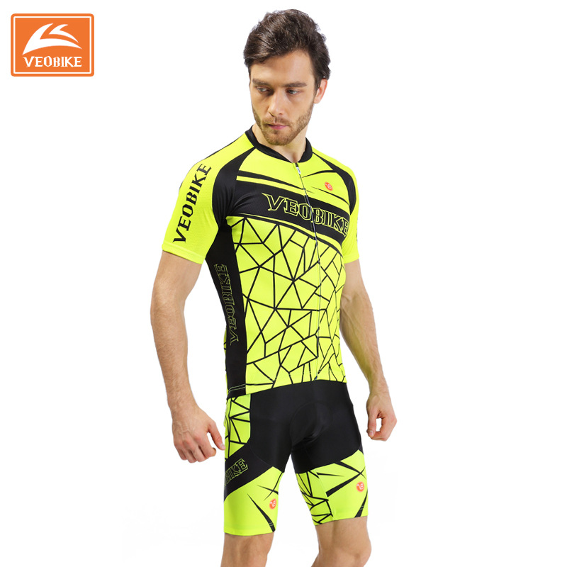 где купить VEOBIKE 2017 Pro Men Cycling Jersey Set Breathable Road Bike Clothes Summer Quick Dry MTB Bicycle Sportswear Ropa Ciclismo F0901 по лучшей цене