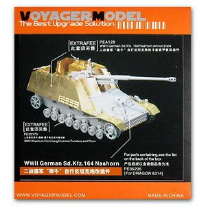 KNL HOBBY Vogager Model PE35235 Sd.Kfz.164 rhinoceros self-anti-tank gun upgrade metal etching parts knl hobby voyager model pea100 m1126 stricker wheeled armored vehicles with additional fence armor metal etching sheet