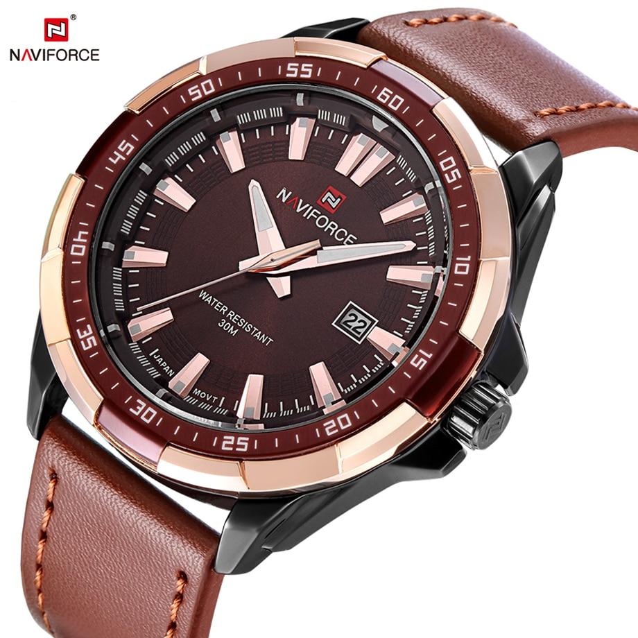 NAVIFORCE Men Watches Sport Military Watch Man Fashion Casual Auto Date Quartz Watches Male Clock Waterproof Relogio Masculino