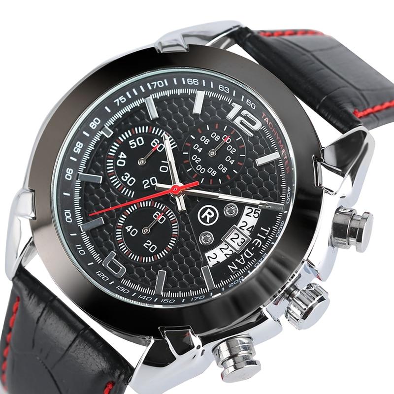 Mens Watches Top Brand TIEDAN Military Pilot Quartz-watch Formal Business Chronograph Wrist Watch Aviator Date Relogio Masculino все цены