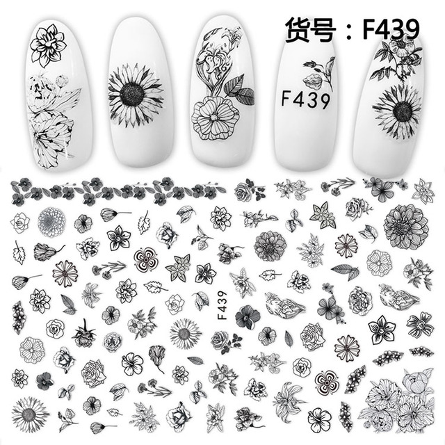 1pcs 3d Super Thin Nail Sticker Tips Flowers Bird Butterfly Owl Cleopatra Nail Art Adhesive Decal Manicure Decoration Nail Wraps Stickers Decals Aliexpress