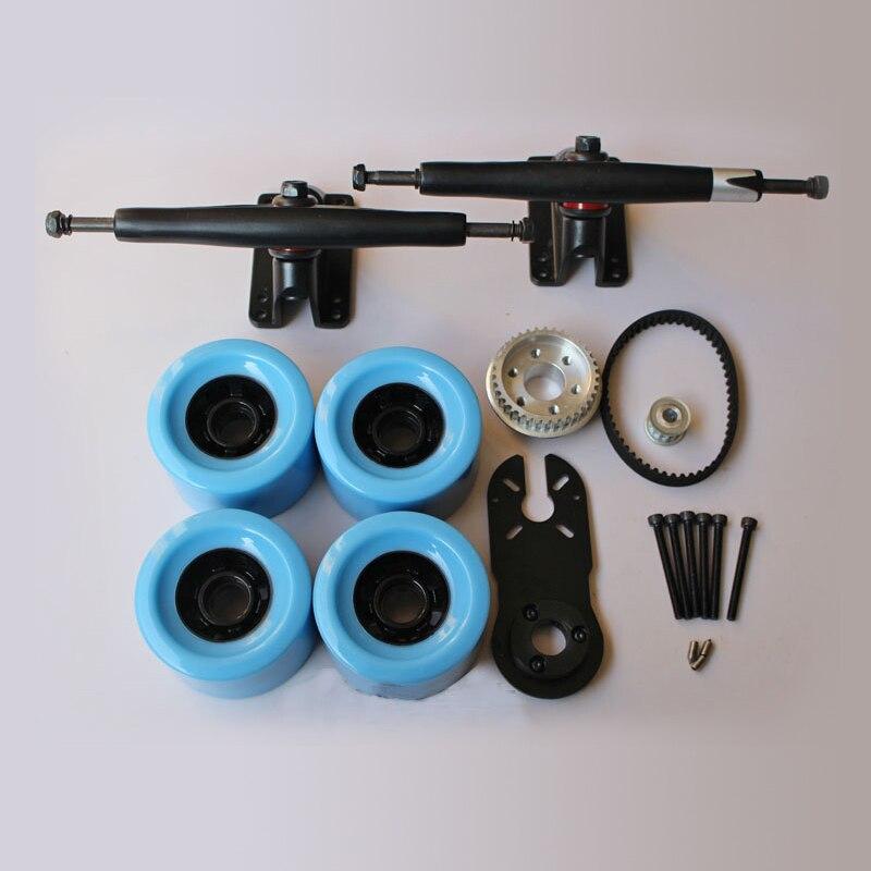 7inch Single Drive Electrical Skateboard Parts Wheels Trucks Long Board PU Wheels 83mm Skateboard Wheels