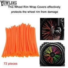 72Pcs Wheel RIM Spoke Skins Sticker cover Accessories Motocross Dirt Bike For KTM 65SX 65XC 85SX 85XC 105SX 105XC 125EXC 125SX