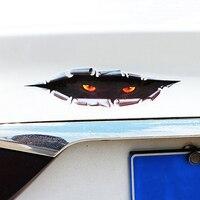 3D Stereoscopic Eye Peep Pattern Car Body Sticker Window Door Waterproof Decor 3