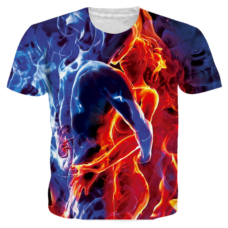 <font><b>3D</b></font> T <font><b>Shirt</b></font> Men's Favorite <font><b>Sexy</b></font> Women Men Nude Ice Lovers Printed O-Neck Short Sleeves Camisetas Hombre Summer Tops Tees image