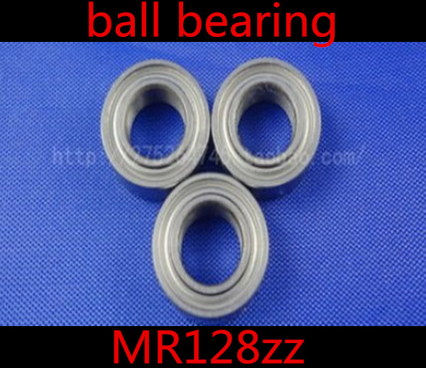 50pcs/lot High Quality <font><b>MR128zz</b></font> 8 x 12 x 3.5mm thin wall deep groove ball bearing 8*12*3.5mm 8mm Miniature ball Bearings image
