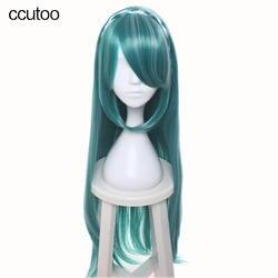 Ccutoo Vocaloid Hatsune Мику Ножи 100 см зеленый Mix кос стиле длинные прямые высокая Температура Волокно Синтетические волосы Косплэй парик