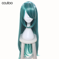 Ccutoo 100cm Green Mix Braid Styled Long Straight High Temperature Fiber Synthetic Cosplay Hair Wigs Peluca