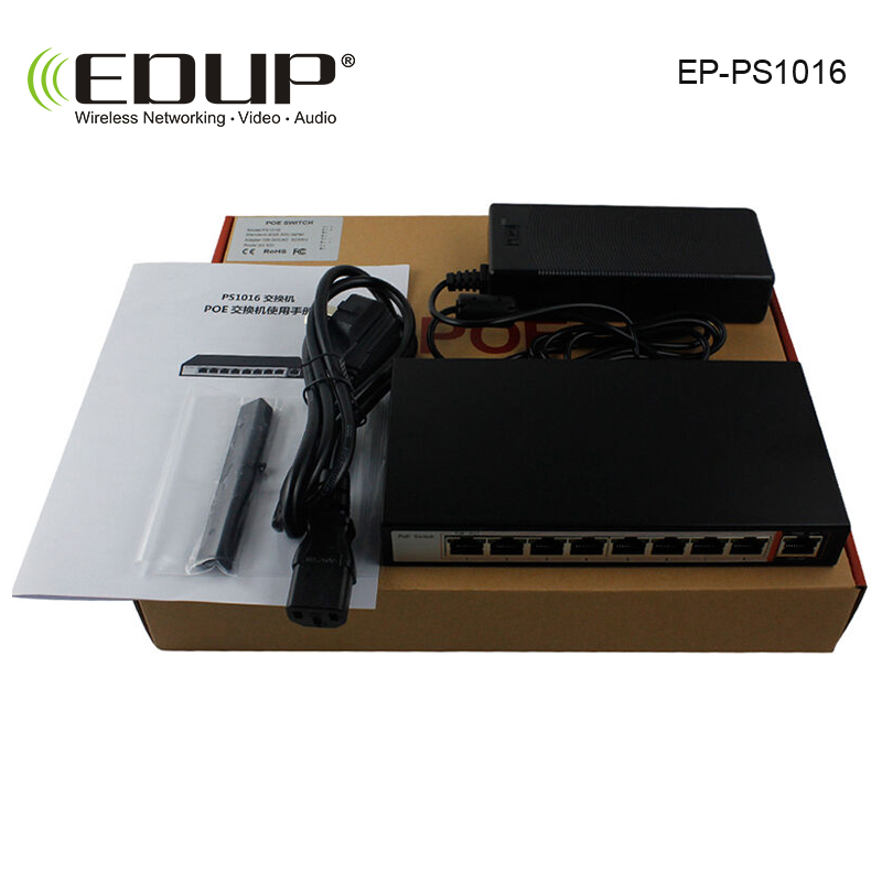 EDUP POE Switch 8 port 10/100M network of compatible network cameras and wireless AP power IEEE 802.3af with EU/US Power Adapter виктория левина дом в деревне