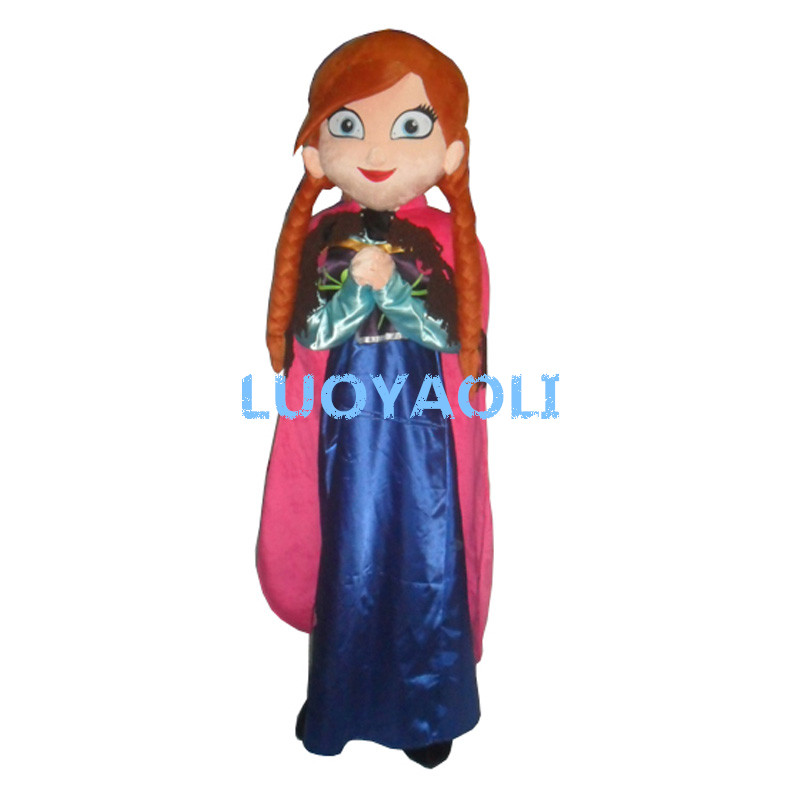Sale Anna Mascot Costume Fancy Party Dress Suit Carnival Costume