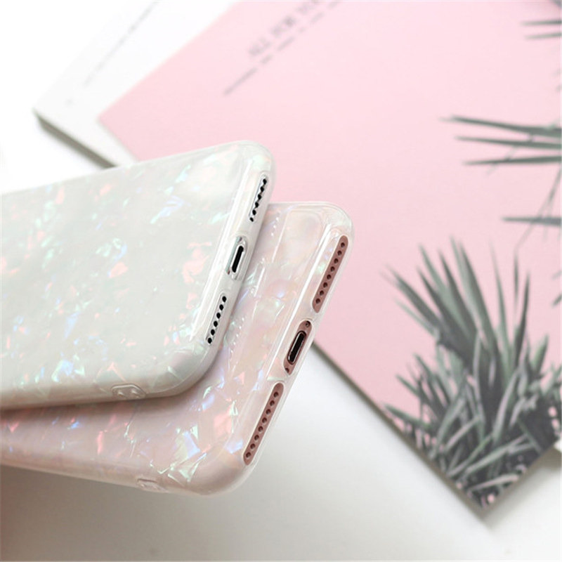 Online Mobile Phone Shop Singapore Uslion Glitter Phone Case For Iphone 7 8 Plus Dream Shell Pattern Cases For Iphone Xr Xs Max 7 6