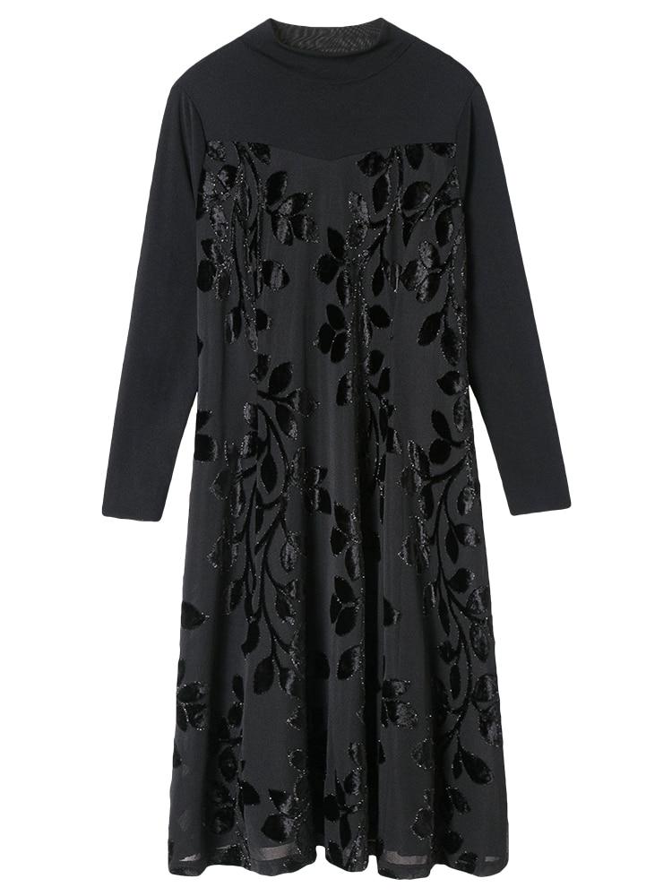 clair Longue Le 2019 Nouveau Grand Et Noir Hiver Dame Printemps Beige Automne Robe Base Noble De Jupe Femmes Sur Genou qPfHn8w