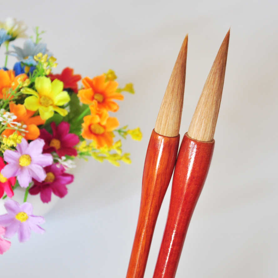 2 pcs/set TOP Weasel hair Chinese Calligraphy Brush Drawing Brush WaterColor Brush Pen Art Supply School  Office Stationary Gift 1piece small regular script calligraphy pen brush weasel hair painting writing brush artist drawing brush art supplies mb126