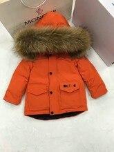 2016 Winter Jacket Girls down coat child down jackets girl duck down Fur hooded long design coats children outwear outerwear
