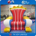 2mH  red giant  inflatable imperial crown air  chair sofa