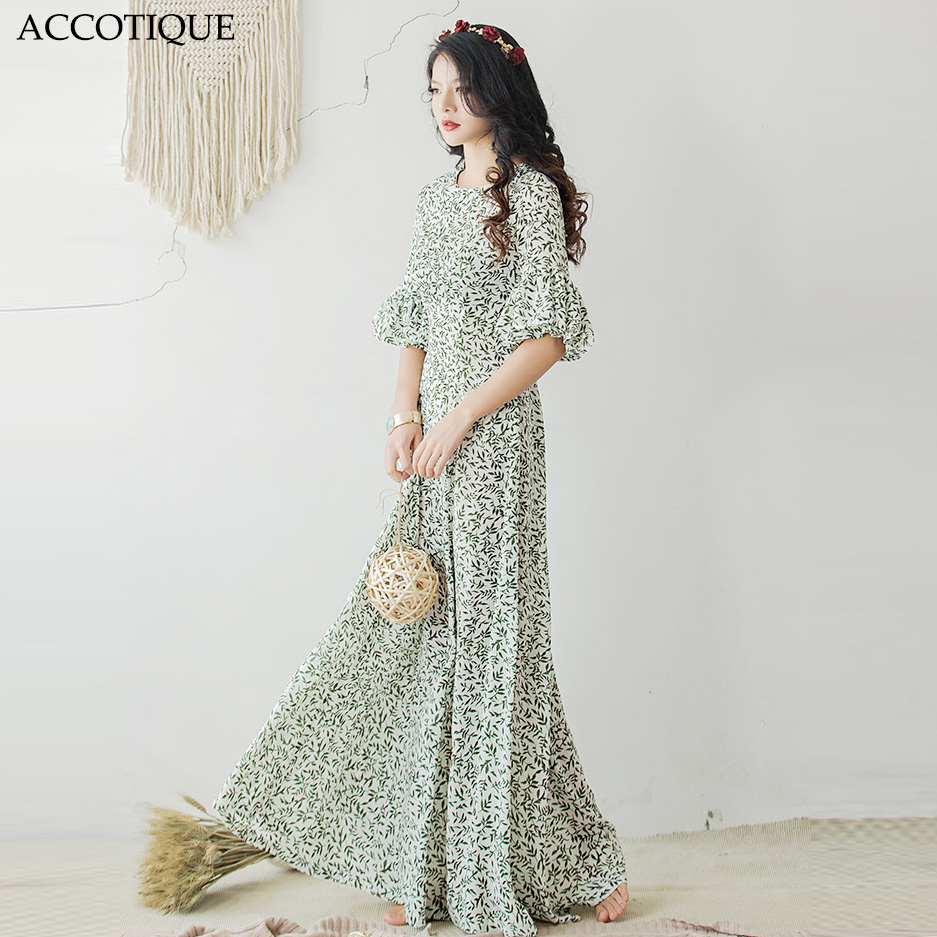 High Quality 2017 New Spring Summer Women s Plus Size Floral Long Maxi Dress Female Ruffles