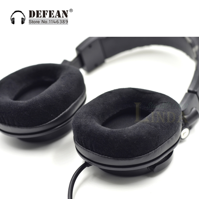 US $11 68 10% OFF|Smooth Velour Ear Pads Cushion For Audio Technica ATH M40  M50 M40X M50X M30 M35 SX1 M50S Dj Headphone Headset-in Earphone