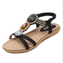 2017 new Bohemian beaded large size women sandals sandals 35-42 yards .JXF-148-A9