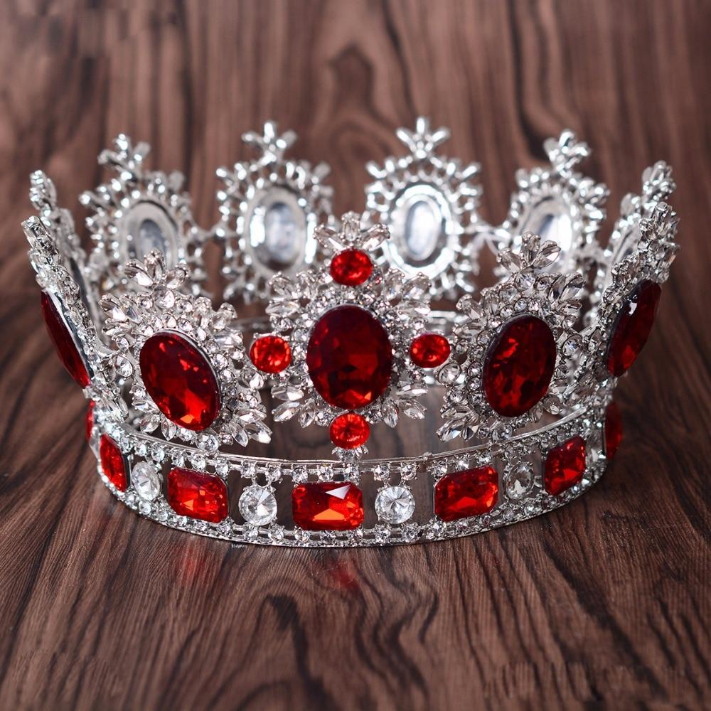 Luxurious Crystal Baroque Wedding Queen Bridal Tiara Crown Bride Diadem Head Jewelry Women Decorations Hair Jewelry Accessories цена 2017
