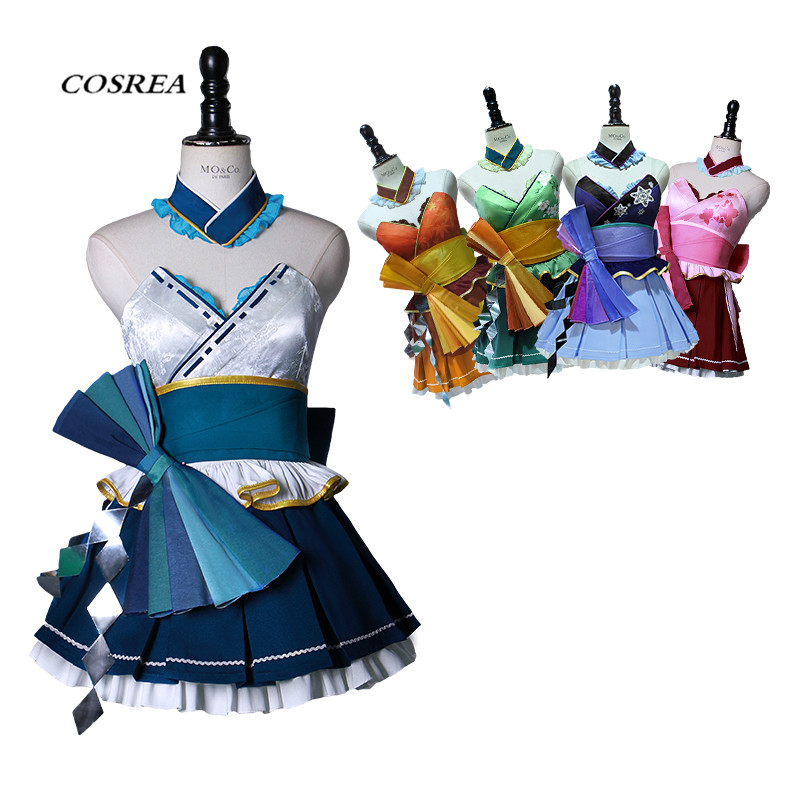 COSREA New Arrival Vocaloid Cosplay Costume Fancy Sexy Dress Carnival Mercy Costumes Halloween Party For Woman