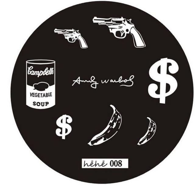 Creative 2015 Popular DIY Pattern Template Nail Art Image Stamping Dollar Sign Banana Gun Pattern Manicure Template