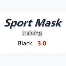 Máscara de treinamento 3.0 condicionado, máscara esportiva preta com caixa