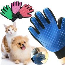 Для домашних любимцев собак кошек кисточки перчатки мягкий эффективный Deshedding Массаж Уход за лошадьми Pet для ванной средства по уходу за домашними животными волос удалить