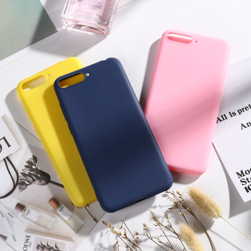 Huawei Y6 2018 Case On for Prime Cases Candy Soft Silicone Phone Cover For Y 6 Bumper